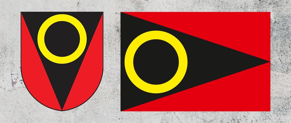 Znak a vlajka obce Třebnouševes