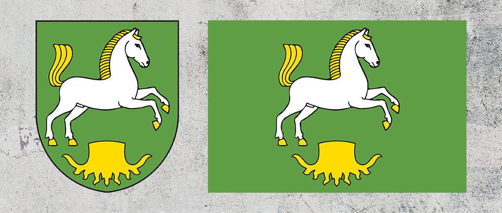 Znak a vlajka obce Čestice