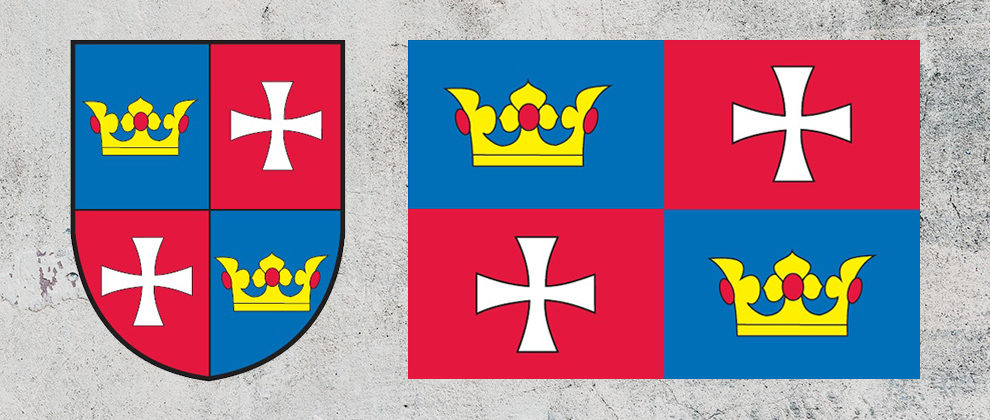 Znak a vlajka obce Chvalšiny