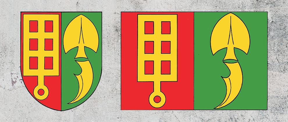 Znak a vlajka obce Horní Štěpánov