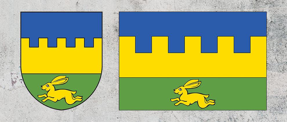 Znak a vlajka obce Záluží