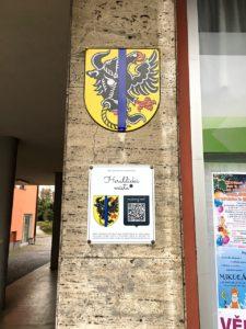 Smaltovaná tabulka, Heraldickámísta.cz - Bystřice nad Pernštejnem