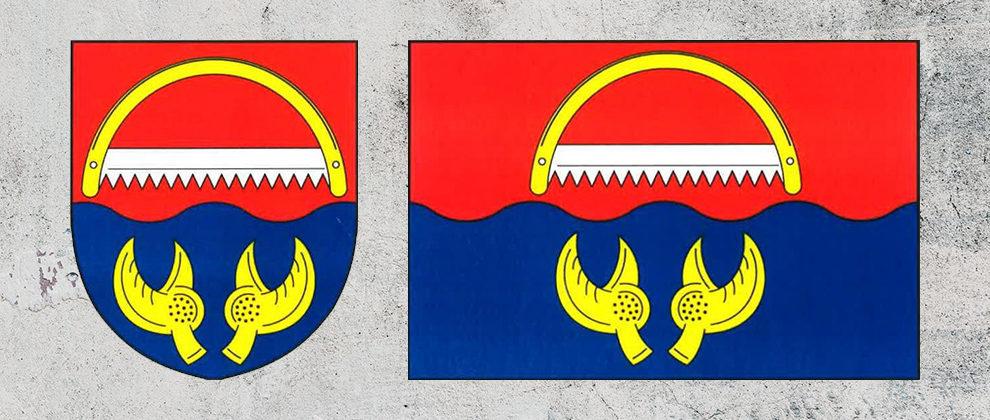 Znak a vlajka obce Rudolec
