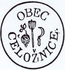 Historické razítko obce Čeložnice
